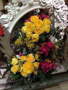 SCAPA spring   #flower #shop #works #matilda #中目黒 Matilda, It Works, Floral Wreath, Wreaths, Spring, Flowers, Shop, Home Decor, Floral Crown