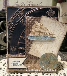 www.StampsAndScrapbooks.com Masculine Nautical Thank You Card with AALD Craft Metal from www.StampsAndScrapbooks.com