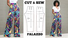This video explains how to make a palazzo pant, the easiest method for the best result. The video is very detailed and goes step-by-step that even a beginner. Doll Dress Patterns, Sewing Patterns Girls, Dress Making Patterns, Clothing Patterns, Shirt Patterns, Dress Sewing Tutorials, How To Make Clothes, Diy Clothes, Barbie Clothes