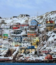 John's, Newfoundland - -> A colorful and super fun city! Newfoundland St Johns, Newfoundland Canada, Newfoundland And Labrador, Saint John New Brunswick, New Brunswick Canada, Vacation Wishes, Vacation Destinations, Vacations, Atlantic Canada