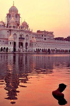 Gurudwara, which means The Door of the Lord, is a Sikh-Temple in India