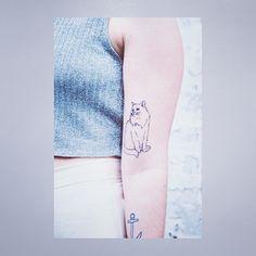 cat tattoo @Ellen Page Page Brockbank