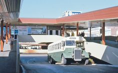 1970's old Perth An old clipper at the Wellington Street bus station.