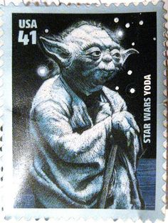 Yoda - Star Wars Postage Stamp 2636 by Brechtbug, via Flickr                                                                                                                                                     More