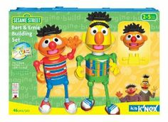 Sesame Street Bert & Ernie Building Set by K'NEX. $28.77. Helps with fine motor skills and stimulates creativity. Handy storage tub with window to highlight the character and pieces. Build best buddies Bert and Ernie at the same time!. Each set includes 3 fun educational activity cards featuring building ideas and parent/child co-play activities. Safe building toy for the very young - even 2 year olds!. From the Manufacturer                Seasame Street is a beloved name in c...