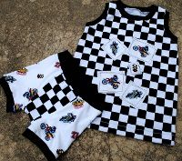 Boys Tank top & boxer briefs. I need to make some of these for my little guys. So cute!!