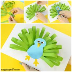 Adorable Paper Peacock Craft! An easy animal craft for kids to make this spring!