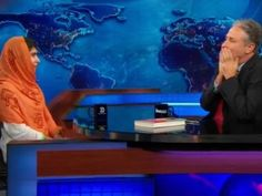 Malala Yousafzai Leaves Jon Stewart Speechless With Her Comment On Pacifism