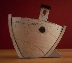 superb #raku pottery boat by Rob Whelpton   Pottery, Porcelain & Glass:Pottery:Studio   JPEGbay.com