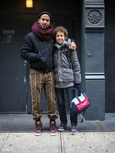 haute dads, men & children street style, mens fashion, street style, chunky scarves, nike, pants pattern, knitwear, infinity scarf, infinity scarves, street style photography