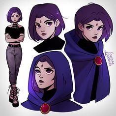 Teen Titans Love, Teen Titans Fanart, Titans Anime, Raven From Teen Titans, Raven Fanart, Robin, Ppg And Rrb, Cartoon Shows, Cartoon Art