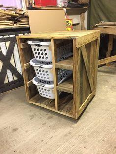 Laundry Basket Dresser with Shelves (Ashley)