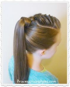Hairstyles, braids, ponytail, french braiding, plait, bun, fishtail, waterfall. Video instruction. Hair tutorial. Cute hairstyle. Long hair style.