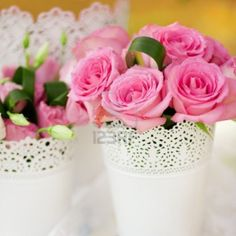 Beautiful Wedding Table Decorated With The Flowers Royalty Free Stock ...