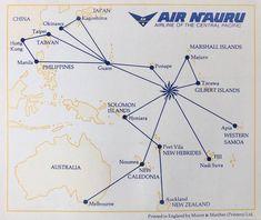 Air Nauru, Gilbert Islands, Pacific Airlines, Kagoshima, Manila Philippines, Marshall Islands, Solomon Islands, Okinawa, Fiji