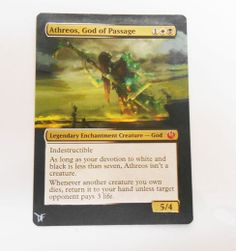 MTG Altered Painted Atheros, God of Passage Journey to Nyx