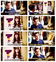 yeah definitely, this is like a Jean Vanjere and a Vajert situation. {gif} #newgirl