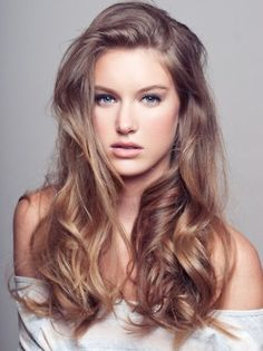 Such an underrated natural hair color! Most girls with dark, ash blonde hair dye it lighter or darker to add interest. I love this glamor shot of a young woman looking truly beautiful in the colors God gave her.