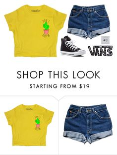 """""""Untitled #1615"""" by chill-outfits ❤ liked on Polyvore featuring Converse and Vans"""