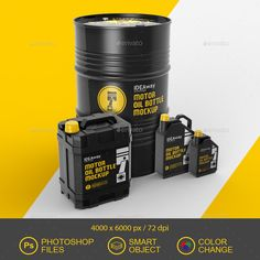 Buy Motor Oil Set Mockup by idaeway on GraphicRiver. Present your design with this mockup of a motor oil before printing. The file includes separate layers for the color . Diesel Oil, Oil Barrel, Board Game Design, Bottle Mockup, Oil Bottle, Social Media Design, Bottle Design, Packaging Design, Product Packaging