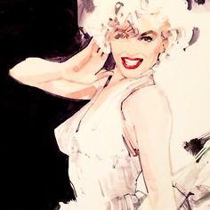 Marilyn Monroe by Marc-Antoine Coulon Mehr Marilyn Monroe Kunst, Marilyn Monroe Artwork, Marilyn Monroe Old, Marilyn Monroe Tattoo, David Downton, Norma Jeane, Watercolor Illustration, Watercolor Face, Gravure