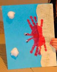 beach crafts for kids - Google Search. I think this cool be a cool grandparent gift from kids.