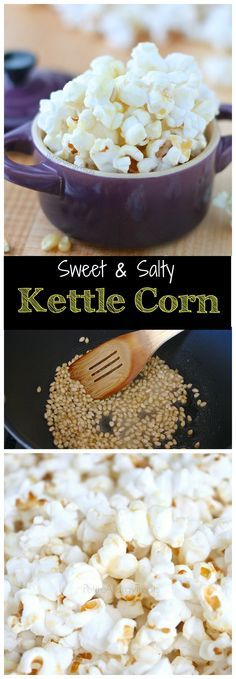Easy Homemade Kettle Corn Recipe- Sweet and salty make this gluten free vegan snack irresistible. Food allergy friendly school snack