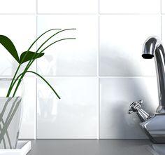 Create classic white splashback with Glossy White range of tiles.