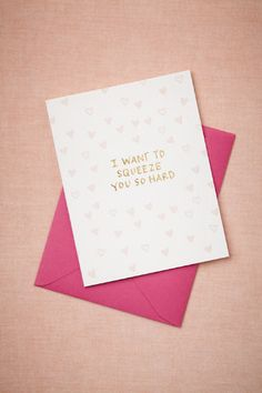 Squeeze You So Hard Card by Printerette Press | BHLDN