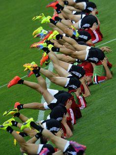 Albania NT in training session for UEFA Euro 2016 qualifying football match Portugal vs Albania.