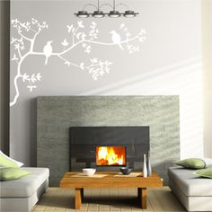 blosson with birds wall stickers ~£25
