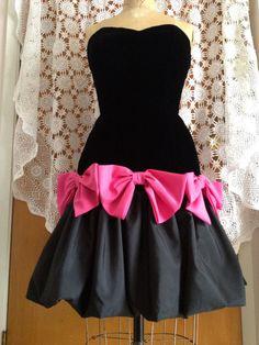 The ultimate 80s vintage party prom dress black by VintageSoulGeek
