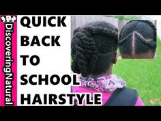 Natural Hair kids back to school hairstyle YouTube