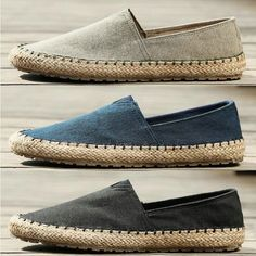 Chinese Fisherman Shoes Men's Straw Casual Canvas Shoes Linen Slip On Loafers Espadrilles Men, Loafers, Mens Canvas Shoes, Shoe Molding, Platform Wedges Shoes, Driving Shoes, Classic Sneakers, Mens Fashion Shoes, Crazy Shoes
