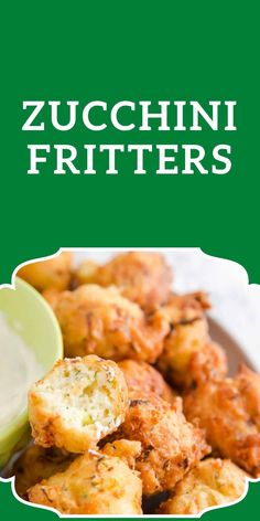 Pumpkin Fritters, Zucchini Fritters, What Is A Zucchini, Great Appetizers, Appetizer Recipes, Easy Snacks, Yummy Snacks, Conch Fritters, Vegetable Dips
