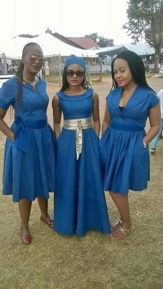Ideas of Shweshwe Styling with Modern Outfits - Reny styles African Inspired Fashion, African Print Fashion, Africa Fashion, African Traditional Dresses, Traditional Wedding Dresses, Traditional Outfits, African Attire, African Wear, African Women