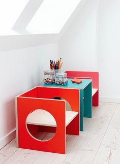 Cube furniture for a funky fun #playroom. #modernnursery #summerinthecity