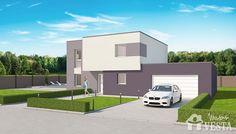 Maisons VESTA :  Modèle Gulliver (étage, style contemporain). Surface : 125m² + 49.69 m² surface annexe Style At Home, Architecture, House Styles, Plans, Home Decor, Contemporary Style, Diner Kitchen, Houses, Arquitetura