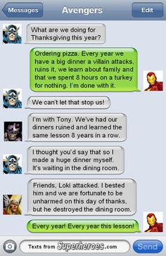 Texts From Superheroes, Happy Thanksgiving from Texts From Superheroes ...