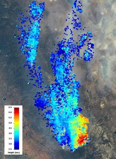 NASA's Terra Spacecraft Measures Height of California Rim Fire Smoke Plumes #awesome