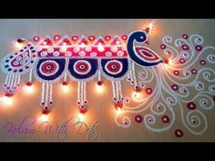Beautiful Welcome Rangoli Designs with Colours For Festivals - Functions special. - Home Decor Rangoli Designs Peacock, Indian Rangoli Designs, Rangoli Designs Latest, Rangoli Patterns, Rangoli Border Designs, Colorful Rangoli Designs, Easy Rangoli Designs Videos, Easy Rangoli Designs Diwali, Simple Rangoli Designs Images