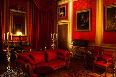 lost-in-centuries-long-gone: Belton House interior by. Modern Interior Design, Luxury Interior, Modern Decor, Decoration Baroque, Belton House, Mansion Interior, Red Rooms, Dark Interiors, Beautiful Bedrooms