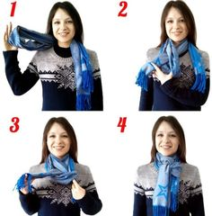 Способ для длинного шарфа