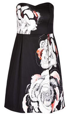 ebc1cb9c4e2 City Chic - TRAILING FLOWER DRESS - Women s Plus Size Fashion City Chic - City  Chic