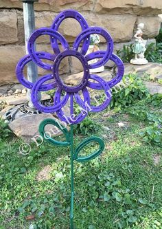 Hey, I found this really awesome Etsy listing at https://www.etsy.com/listing/274808396/horseshoe-flower-garden-art-yard-art