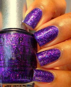 Purple Glitter Nails!
