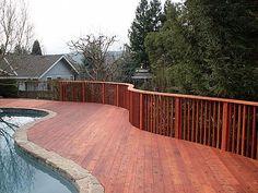 Redwood Decking Deck