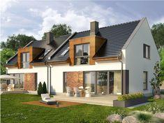 Wizualizacja KR Aviator 4 CE Small House Design, Modern House Design, Modern Barn House, Townhouse Designs, Attic Design, Facade House, Home Fashion, Floor Plans, Exterior