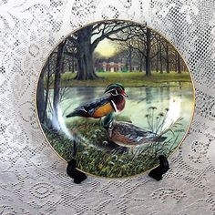 Edwin M Knowles Bart Jerner Plate The Wood Duck 1987 by WillowLaneGallery on Etsy