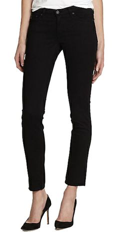Lauren's Soft, Slim Black Jeans  I've been looking for a pair of slim (but not skinny) black jeans all fall and winter — and it's hard to describe my delight when AG Adriano Goldschmied's stilt cigarette jeans, ordered on a whim from Saks.com a few days before Christmas, arrived at my door. Continue... http://accessories.thatarerightforme.com/accessories/laurens-soft-slim-black-jeans